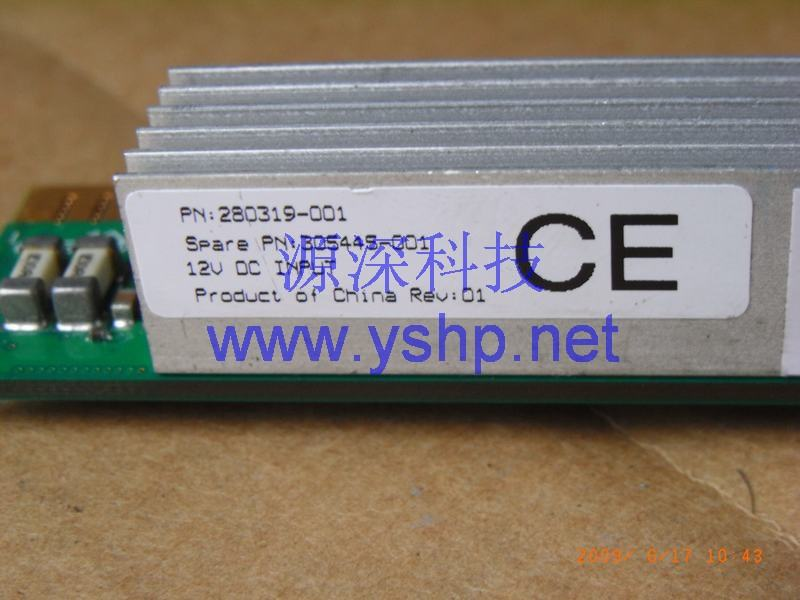 上海源深科技 上海 HP ProLiant DL360G3服务器CPU调压模块 HP DL360 G3 CPU VRM 305445-001 高清图片