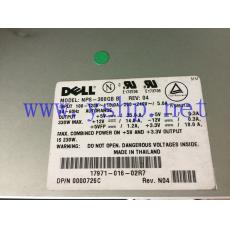 DELL PowerEdge PE1300 服务器电源 NPS-300GB B 17971-016-02R7 0726C